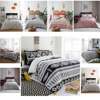 Duvet Cover with Pillow Case Quilt Cover Bedding Set Single Double King Size New
