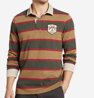 Eddie Bauer Rugby Shirt Size L  Dk Loden NEW men's Polo