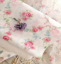 Vintage Shabby Chic ROSES FLOWER CHAIN Cotton Quilting Clothing Fabric 50X47CM