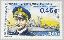 ST. PIERRE MIQUELON SPM 2001 842 716 Commander J P Lehalleur Corvette Ship MNH