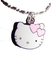 Hello Kitty Pink Hearts dainty charm Pendant 18 inch Chain New