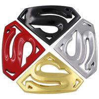 Hot 3D Superman Chrome Metal Auto Car Motorcycle Logo Sticker Badge Emblem Decal