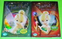 Disney DVD Lot - Tinker Bell (New) Tinker Bell and the Lost Treasure (New)