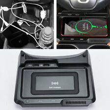 Wireless Center Console Phone Charger Pad Dual USB Dock For CRV CR-V 2017-2019