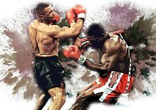 MIKE TYSON AND FRANK BRUNO  CANVAS PRINTS  A3