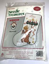 Crewel Stitchery Needle Treasures Christmas Angel Stocking Kit Hummel 00864