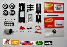 LGK PRO-48A COMPLETE CHASSIS + 20X7MM BRM SPOKED WHEELS 1:32 - SLOT CLASSIC
