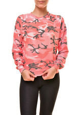 Wildfox Women's Fire Camo Junior WSV190 38X Sweatshirt Multi S RRP £117 BCF89
