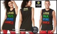 ZUMBA INSTRUCTOR Loose Muscle Tank Top Tee Shirt ZCon CUT IT! CROP IT! XS/S M/L