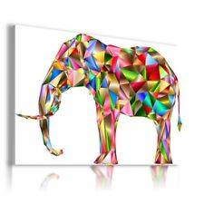 AFRICA ABSTRACT ELEPHANT Wild Life Animals Canvas Wall Art Picture AN256 MATAGA