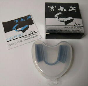A+ Professional Powerlifting Mouthguard Gray With Storage Case