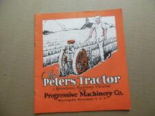 1929 Peters Garden Tractor Catalog Brochure Progressive Machinery Co Minneapolis