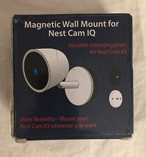 Wall Mount for Nest Cam IQ w/ Screws onto Any Wall or Use The Strong Magnet