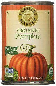 New Farmer's Market Organic Canned Pumpkin 15 oz