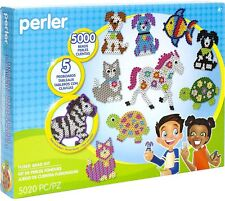 Perler Fuse Beads 5000 Pack With 5 Peg Boards Animals Kids Arts & Crafts