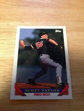 Topps 1993 Scott Taylor #456 Boston Red Sox Major Leagues Modern (1981-Now)