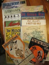 Lot Of 11 Vintage Pieces of Sheet Music 1894-1955 WWI MUSIC Included