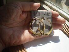 ROBERT LEE MORRIS GOLD TONE DANGLING HOOPS EARRINGS