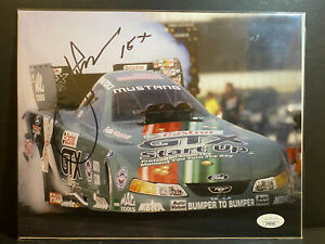 JSA Signed John Force 8x10 Photo AUTOGRAPH NHRA Drag Racing Champion HOF AUTO