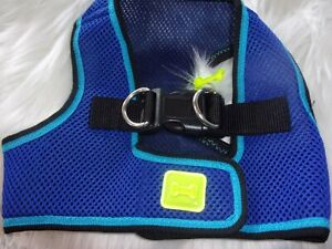 Blue Body Harness Vest M Pet Dog new no choke free step-in pup Medium