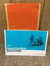 1972 Amf Harley Davidson Snowmobile Owners's Manual,Genuine Parts & Accessories