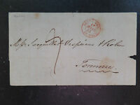 1842 Jersey to Tonnerre France port entry Outre Mer St Malo 17/03/1842 7d manusc