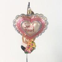Christopher Radko Sweet Heart Valentine Heart Ornament  Rare