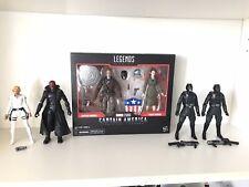 Marvel Legends Captain America Steve Peggy Sharon Carter Red Skull Hydra Agents