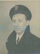More details for 1930s royal navy officer studio portrait 4x3