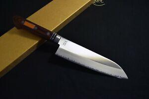 Japanese Chef / Kitchen knives *Mint* V-Gold Warikomi Santoku 170mm Japan 2275