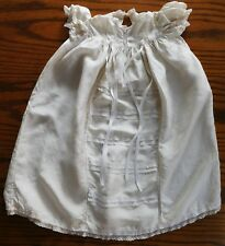 Vintage silk christening gown Hand-embroidered baby clothes long lacy dress robe