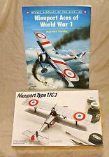NIEUPORT Kit & Book-Osprey #33 Nieuport Aces WW1- Testors 1/48 Nieuport Type 17C