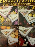 BREAD CLOTHS FOR THE SEASONS Counted Cross Stitch Leaflet Leisure Arts #2654