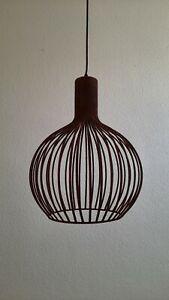 Brilliant Pendelleuchte BEDOUINE Rostfarbend Metall bis 147 cm Lampe Industrial