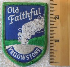 OLD FAITHFUL YELLOWSTONE PATCH (STATE, SOUVENIR, GEYSER)