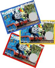 THOMAS THE TANK TRAIN ENGINE SCRATCH OFF OFFS PARTY GAME CARDS BIRTHDAY FAVORS