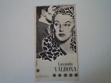 advertising Pubblicità 1956 LAVANDA VALBONA - BORSARI e C. PARMA
