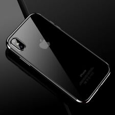 For iPhone X 10 8Plus Edition Case Electroplate Clear Soft TPU Hybrid Slim Cover