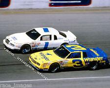 DALE EARNHARDT #3 WRANGLER & DICK BROOKS #1 NASCAR  8x10 GLOSSY PHOTO #8
