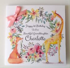 Personalised Fox 1st Birthday Card Daughter Granddaughter Niece 2nd 3rd 4th 5th