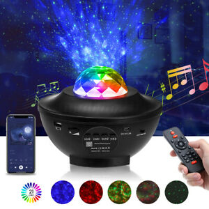 Galaxy Projector Starry Sky Night Light Ocean Star Party Speaker LED Lamp Remote