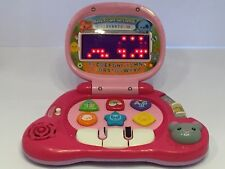 🔴 Pink Toy Toddler- Vtech Baby's Light-Up Laptop - 1-3years with Mouse Euc F6