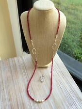 Two-Way Ruby Bead Necklace