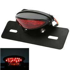 Motorcycle Brake Tail Light Lamp Clear Lens Red Light 20 Led License Plate