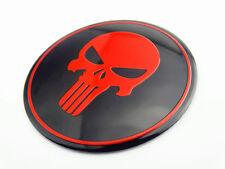 Skull Emblem Decal for Harley Honda Suzuki Yamaha Tank Fairing New Red Punisher