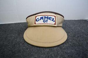 CAMEL GT Cigarettes IMSA Tennis Visor Poker Hat VTG 80s/90s Blue Tan Patch