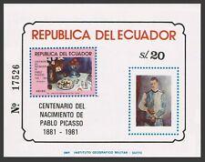 Ecuador 1017A,C728-C731,MNH.Michel 1913-1915,Bl.105-106. Pablo Picasso,1983.