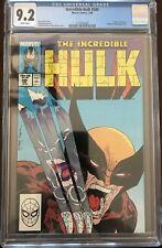 Hulk #340 CGC 9.2 White Pages, Iconic Todd McFarlane Cover, Hulk vs Wolverine