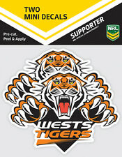 NRL Wests Tigers Mini Decal Stickers - Pack of 2