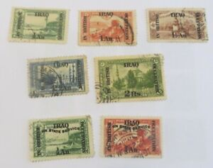 Iraq 1918 - 23 British Occupation small collection used